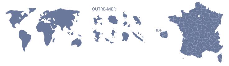 Rechercher un député depuis les cartes géographiques