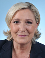Photo de madame la députée Marine Le Pen