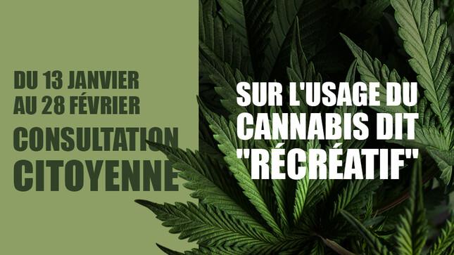 Cannabis récréatif - consultation citoyenne