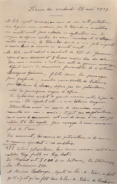 Comité secret du 25 mai 1917. Notes prises par Georges Bonnefous de l'intervention de Jules Cels.