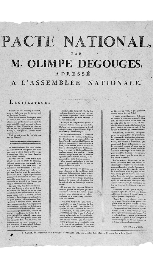 "essay on olympe de gouges Olympe de gouges ""woman has the right to mount the scaffold she must equally have the right to mount the rostrum"" wrote olympe de gouges in 1791 in the best."