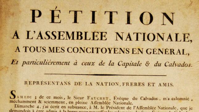 """Pétition à l'Assemblée nationale: Affiche révolutionnaire de la collection """"Portiez de l'Oise"""""""