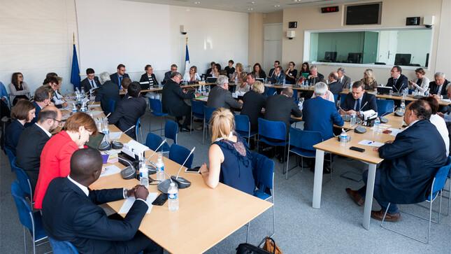 Réunion de la commission des affaires européennes