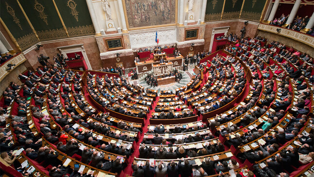 Une séance dans l'hémicycle de l'Assemblée nationale